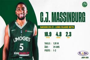 Basket : C.J. Massinburg débarque au CSP en tant que pigiste médical