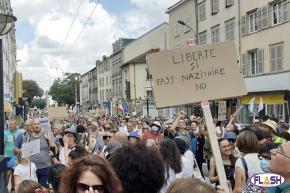 3000 personnes à Limoges contre le Pass Sanitaire