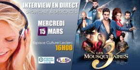 """Interview et showcase """"Les 3 Mousquetaires"""""""