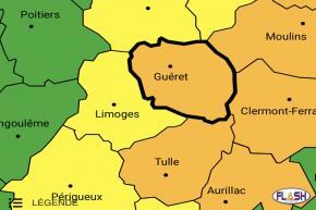 La Creuse et la Corrèze placées en Vigilance orange orages par Météo France