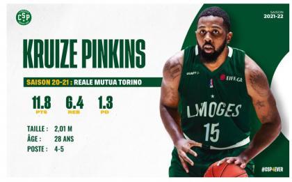 Basket : Kruize Pinkins débarque au CSP